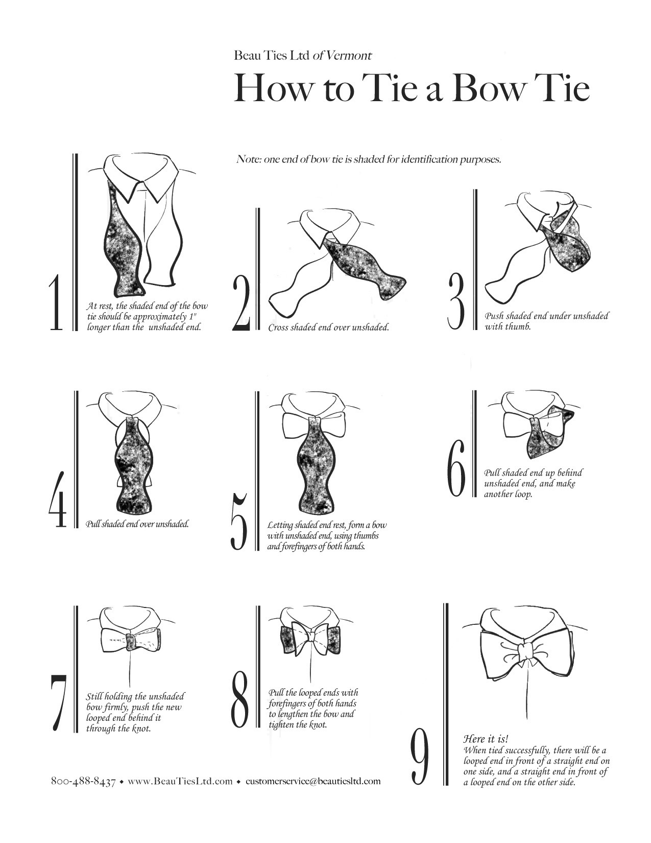 bow tie knot instructions