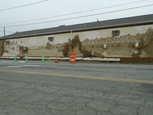 Mural by Michael Brown in downtown Elkin NC